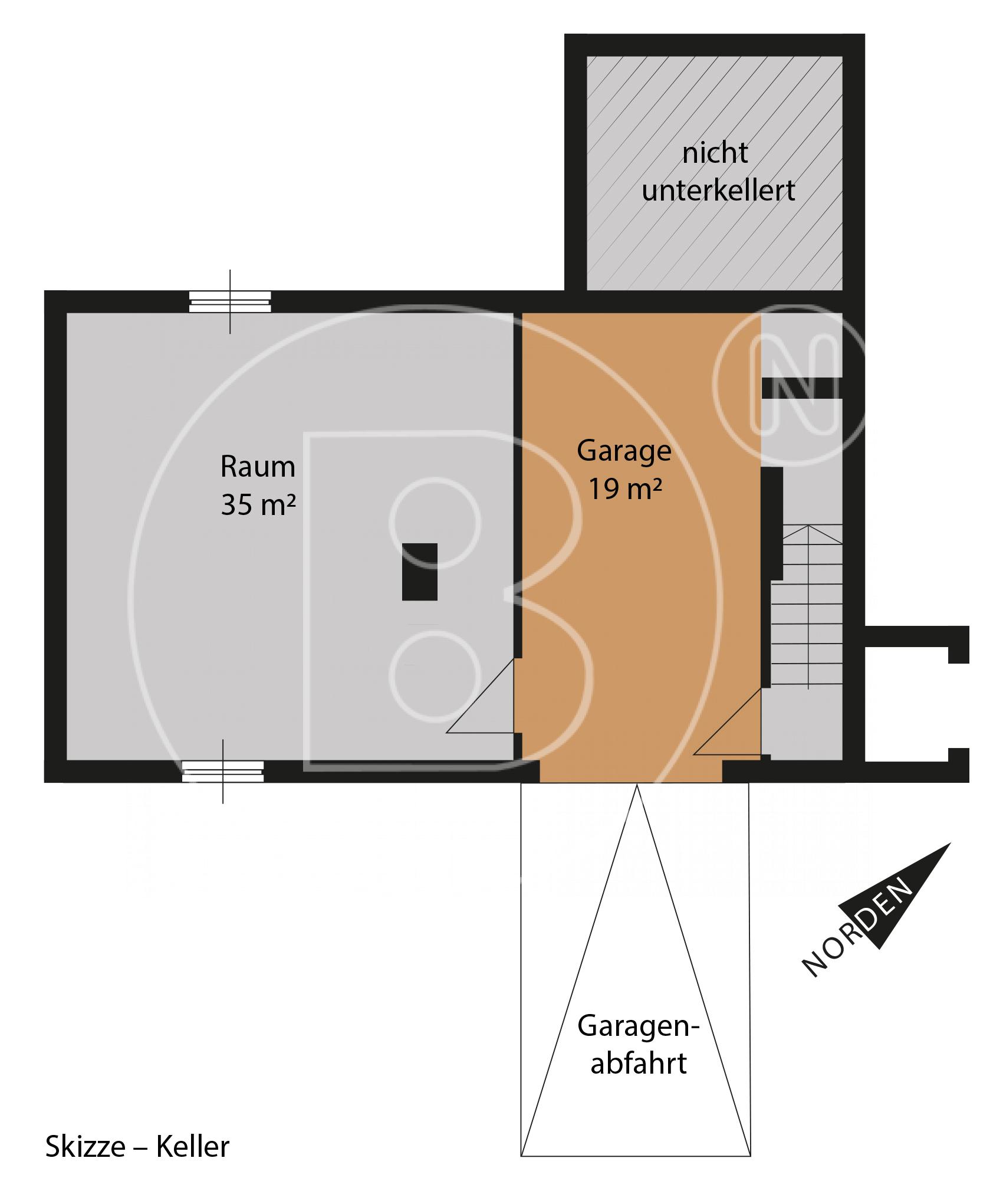 Keller - Skizze - Wunderbares Grundstück - Haus sanierungsbedürftig