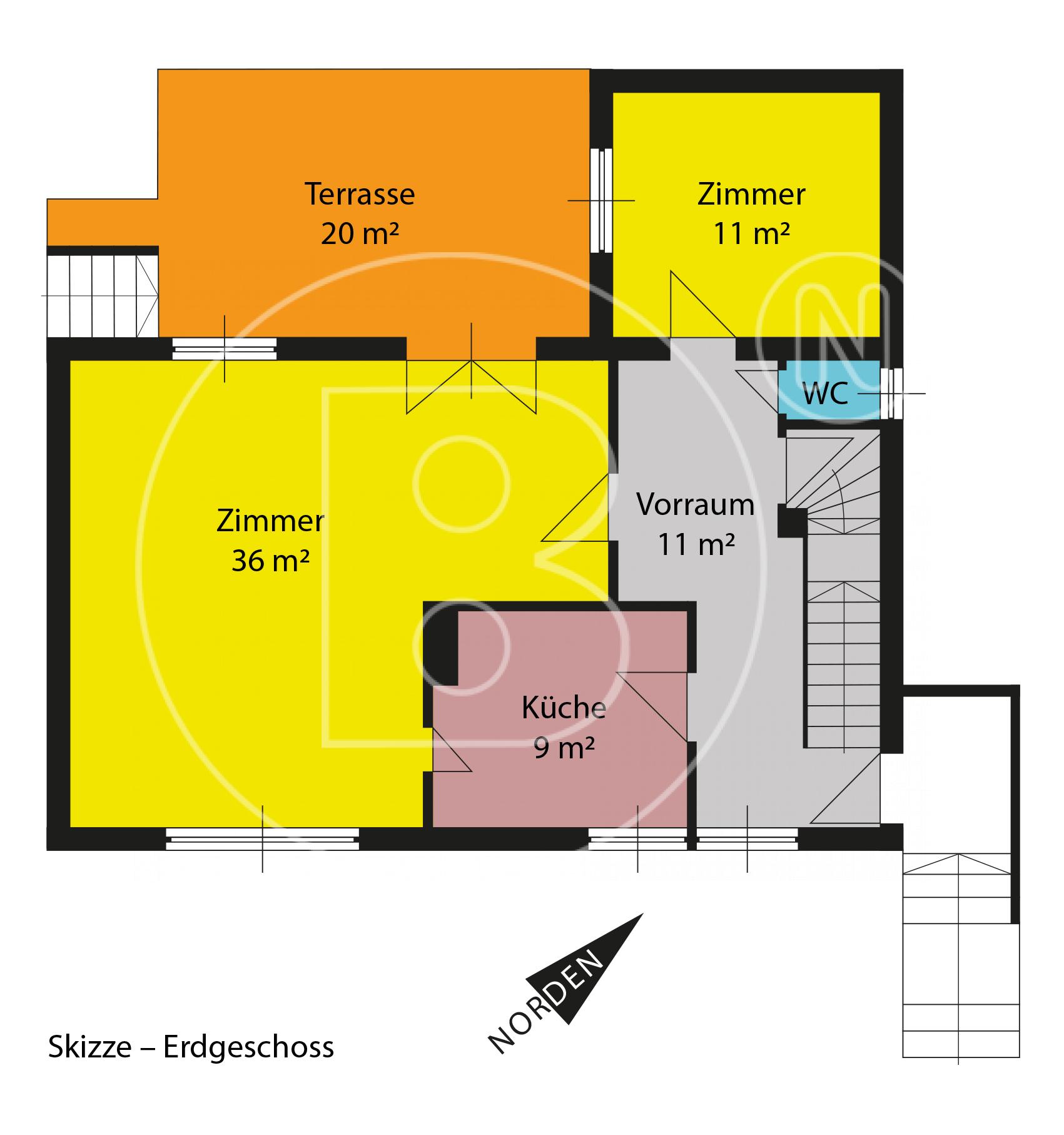 EG - Skizze - Wunderbares Grundstück - Haus sanierungsbedürftig