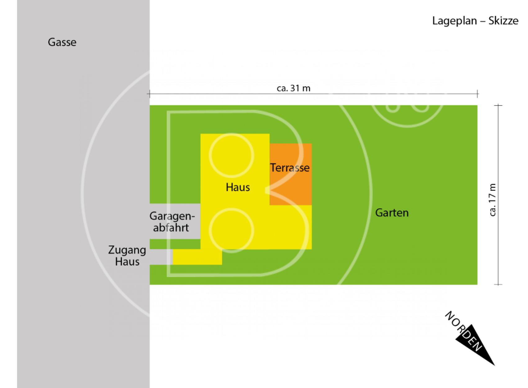 Lageplan - Skizze - Wunderbares Grundstück - Haus sanierungsbedürftig