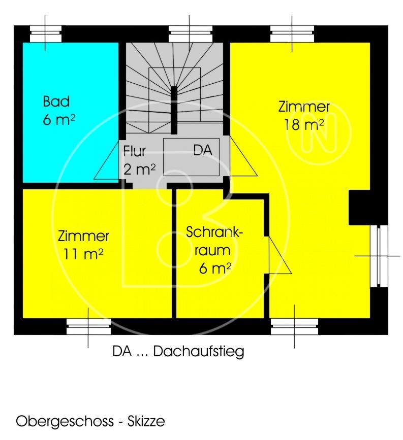 Plan OG - Modernes Eckreihenhaus in Ruhelage