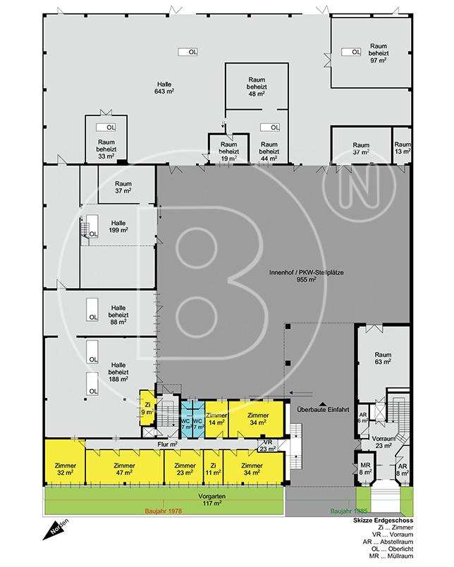 GRUNDRISS - Büro- und Gewerbeobjekt mit vielseitigen Nutzungsoptionen