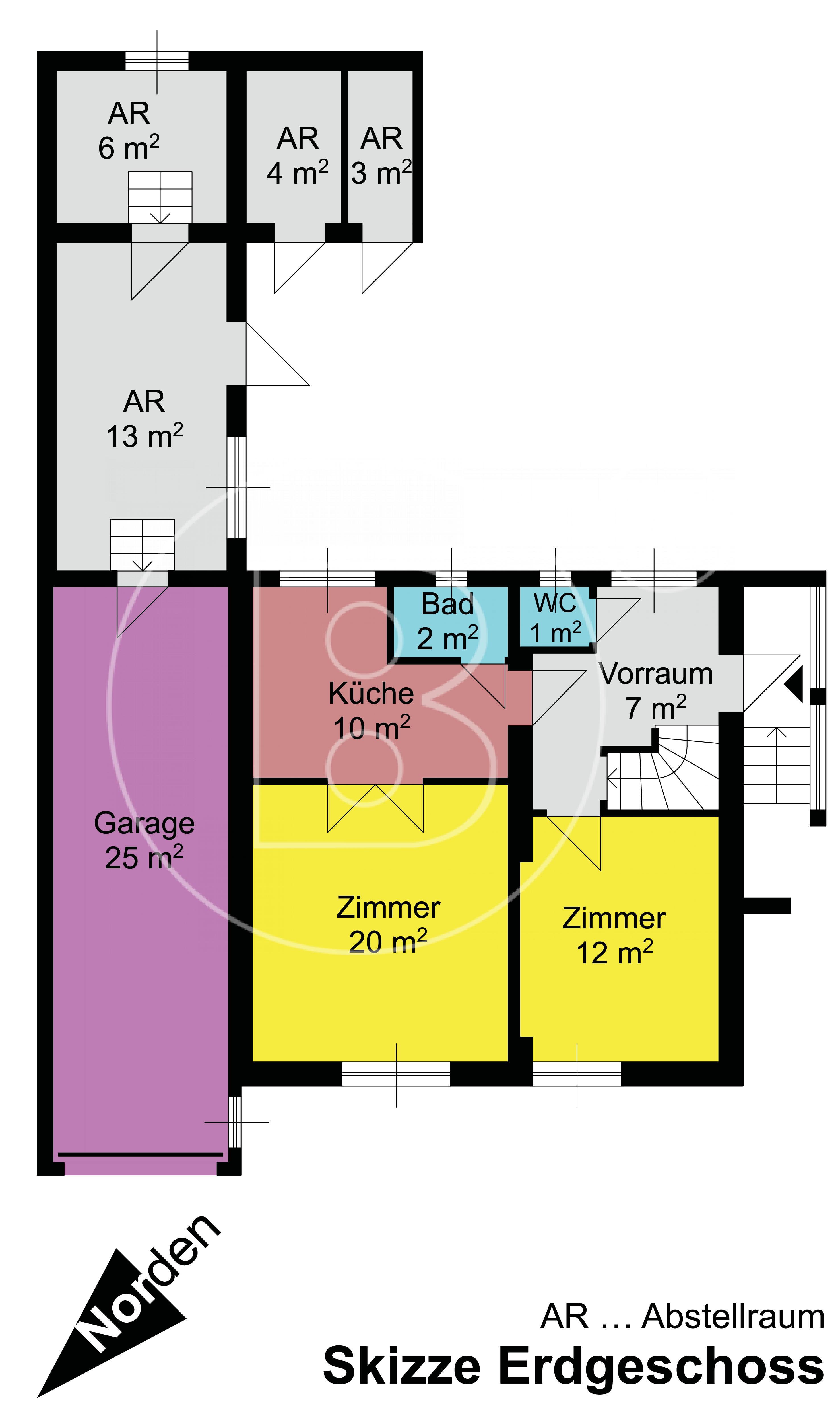 GRUNDRISS - Altes Einfamilienhaus bzw. Baugrund in guter Lage!