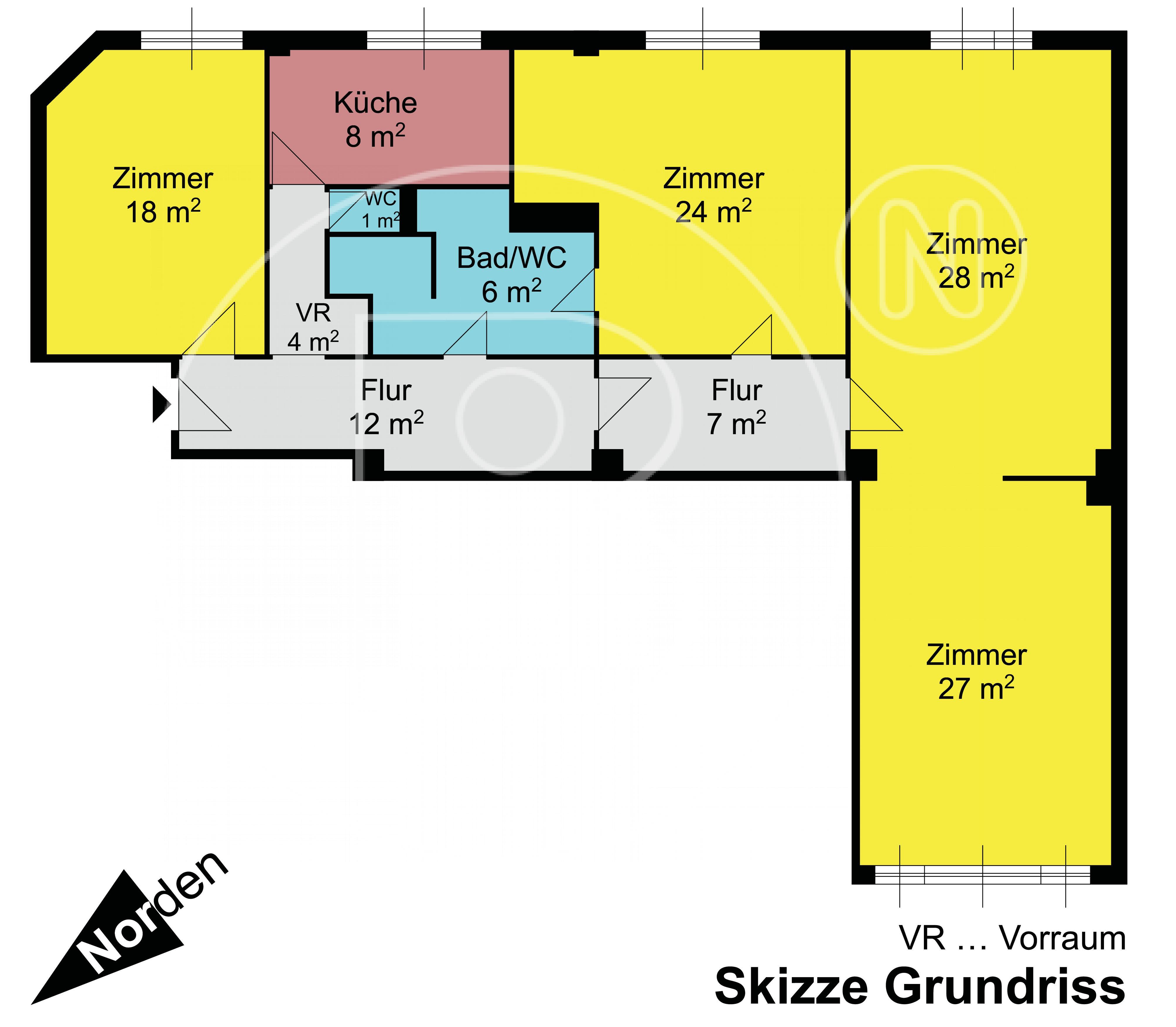 GRUNDRISS - Renovierungsbedürftiges Immobilienjuwel in perfekter Lage